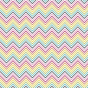 live free : love life chevron rainbow