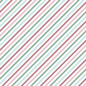 christmas candy cane stripes multi