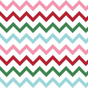 christmas chevron multi one