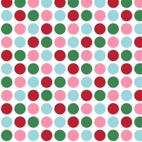 christmas polka dots one