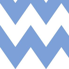 chevron xl cornflower blue