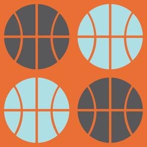 Gray/Blue Basketball
