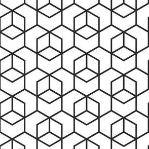 Hexagon trellis - black on white