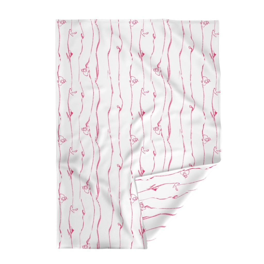 Lakenvelder Throw Blanket featuring Tiny Leaves Aqua Blue Cream by dorothyfaganartist