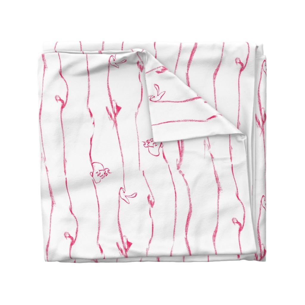 Wyandotte Duvet Cover featuring Tiny Leaves Aqua Blue Cream by dorothyfaganartist