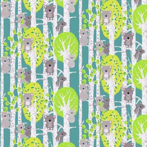 koalas in the trees smaller