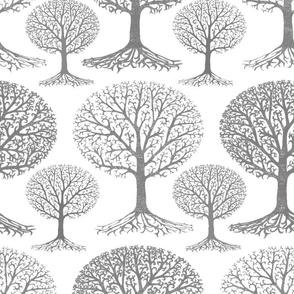 Winter Trees Grey