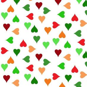 Christmas hearts (large)