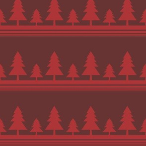 Red Christmas Tree Line 2