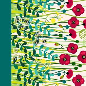 """meadow flowers poppy border - double 56"""""""
