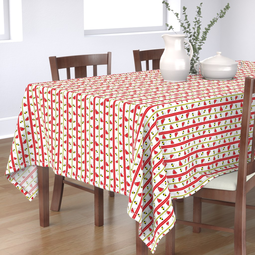 Bantam Rectangular Tablecloth featuring A Tribute to Red Pants by timestitcher