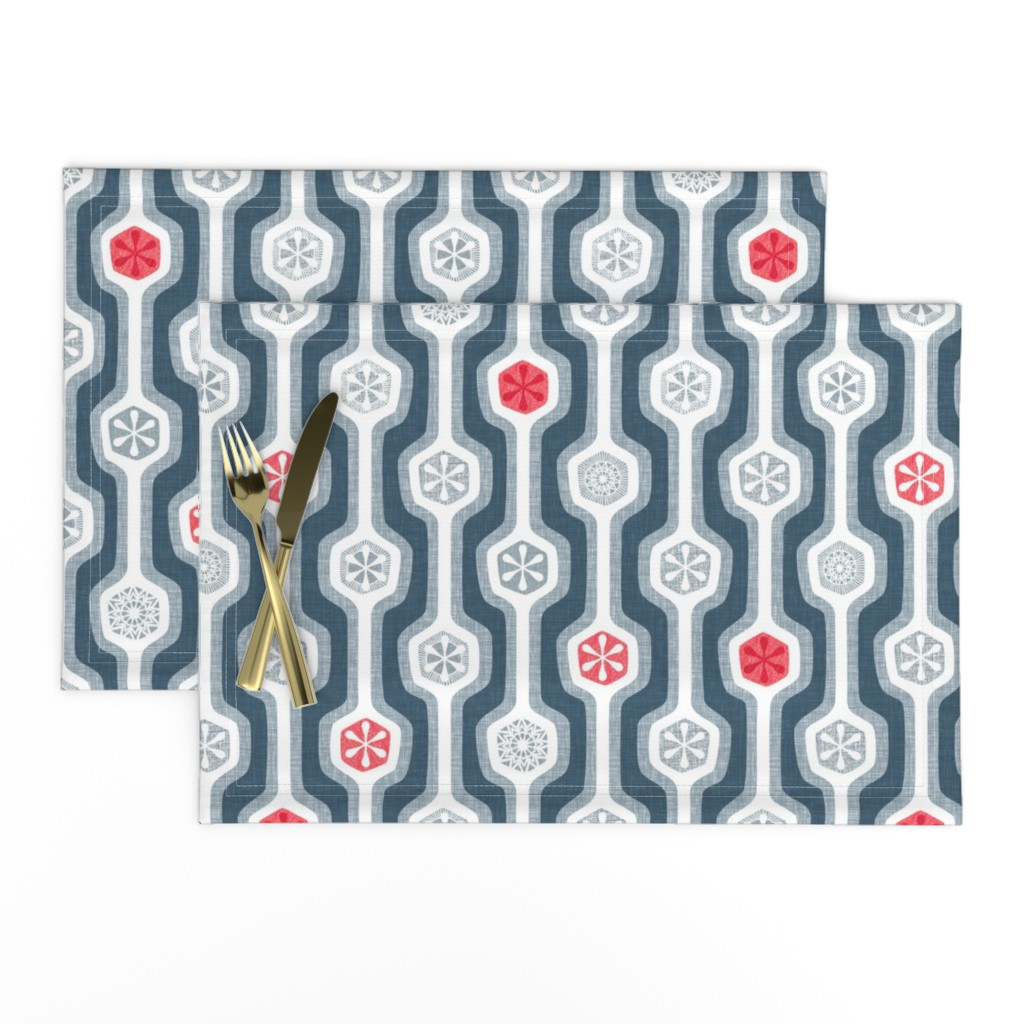 Lamona Cloth Placemats featuring Snow White Rose Red by spellstone