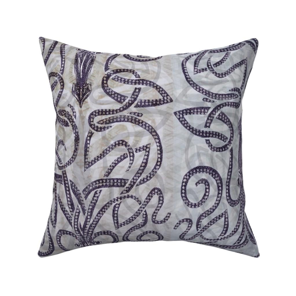 Catalan Throw Pillow featuring Batik kraken  by wren_leyland
