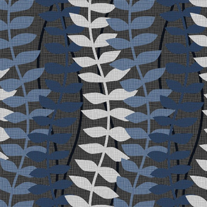 matisse inspired - black and blue