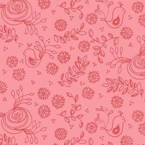 Love Birds - solid pink