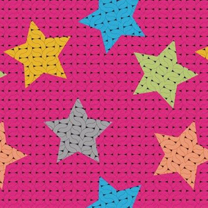 fabric_knitting_stars