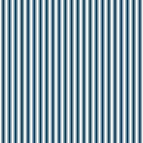 ticking stripes navy blue