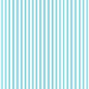 ticking stripes sky blue