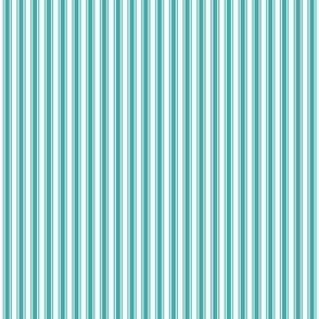 ticking stripes teal