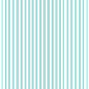ticking stripes light teal