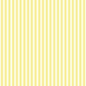 ticking stripes lemon yellow