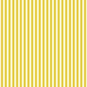 ticking stripes mustard yellow