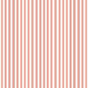 ticking stripes peach