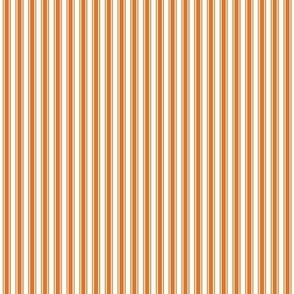 ticking stripes orange