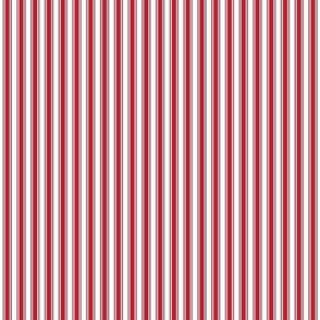 ticking stripes red