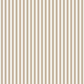 ticking stripes tan