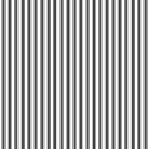 ticking stripes dark grey