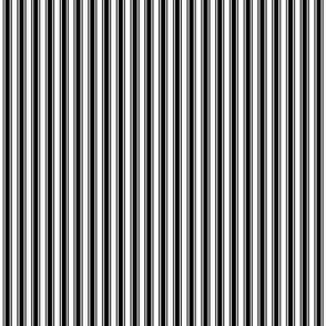 ticking stripes black