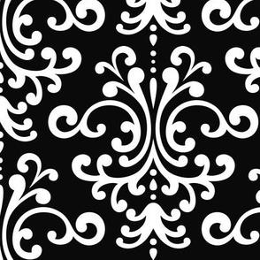 damask lg black and white