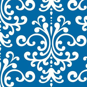 damask lg royal blue