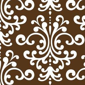 damask lg brown