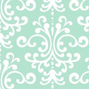 damask lg mint green