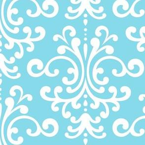 damask lg sky blue