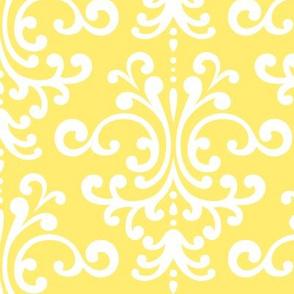 damask lg lemon yellow
