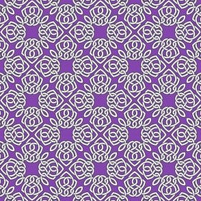 Square Knot Purple
