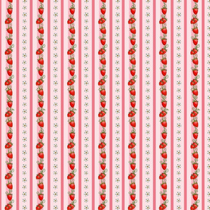 Strawberry Stripes Pink, small size