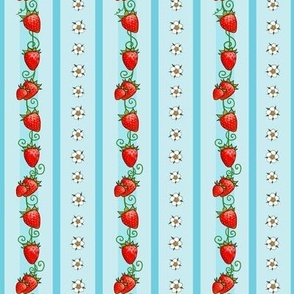 Strawberry Stripes Light Blue, small scale