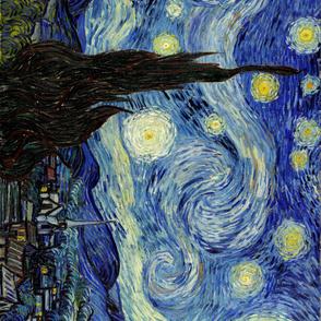 Van Gogh Starry Night Seamless Repeat