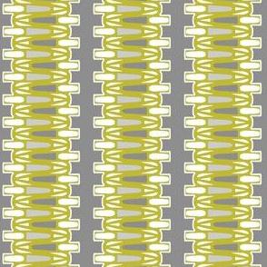 Danish Modern Chartreuse on Gray