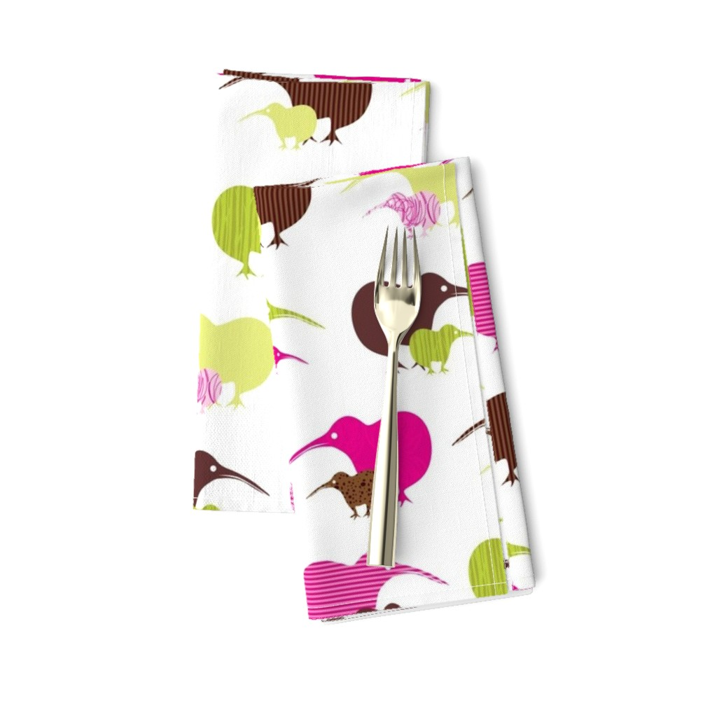 Amarela Dinner Napkins featuring Kiwi mama and baby-ed by malien00