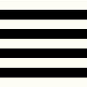 wide stripes on cream