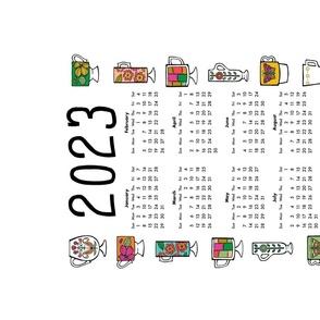 2020 vintage mugs tea towel calendar