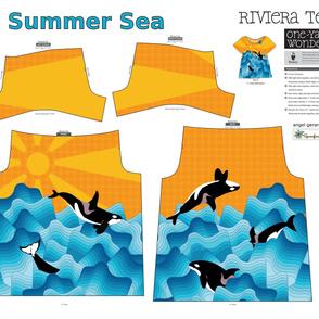 Summer Sea Riviera Tee by Angel Gerardo