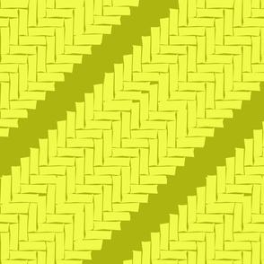 diagonal woven herringbone- lime zest