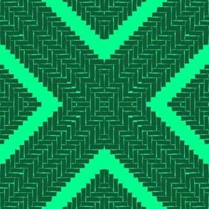 WOVEN HERRINGBONE DIAMOND - emerald