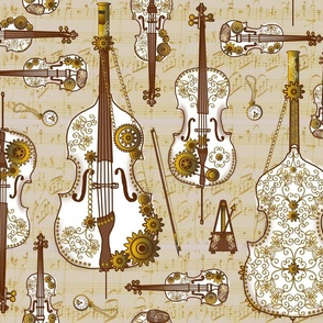 Steam Strings Parchment